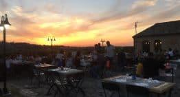 Beerstrot, cena con tramonto nelle Marche