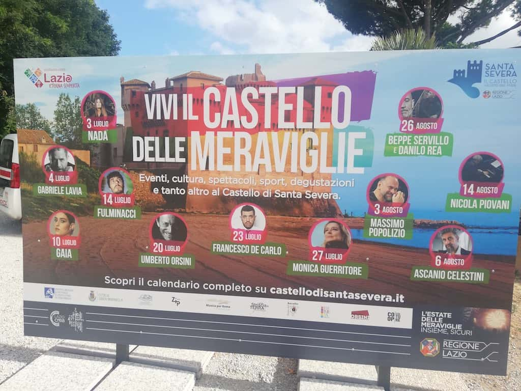 Castello di Santa Severa in Lazio, vivi l'estate